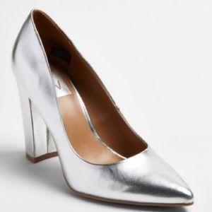 Dolce Vita metalic chunky heel Pump